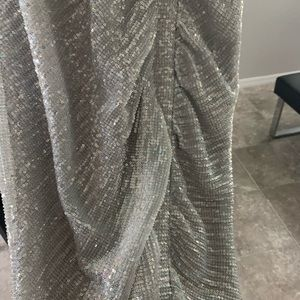 Lavish Alice Dresses - Lavish Alice Silver Iridescent Midi Dress